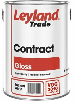 £35.99 • Buy 5L Leyland Contract Gloss - Brilliant White - 306354