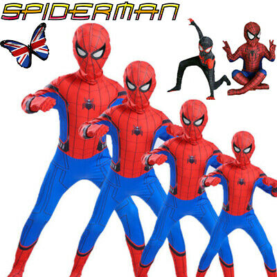 £3.75 • Buy Boys Kids Super Hero Fancy Dress Spiderman Cosplay Costume Child Clothes Outfits