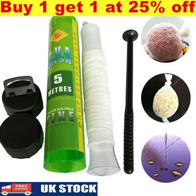 £6.77 • Buy PVA Mesh Stocking Plunger And Free Tube For Carp Fishing Trendy Wide18/25/44