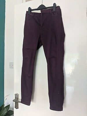 £5 • Buy New Look Burgundy Ankle Grazer Jeans Size 14