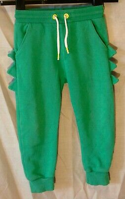 £6.95 • Buy Boys F&F Green Monster Dino Spike Cuffed Tracksuit Bottoms Joggers Age 3-4 Years