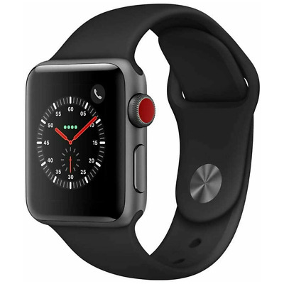 $ CDN15.74 • Buy Apple Watch Series 3 42mm GPS Cellular Space Gray Black - EXCESSIVE SCRATCHING