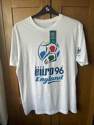 £19.99 • Buy UEFA Euro 96 Football Large Mens Tee T Shirt England Official White 1996 90s