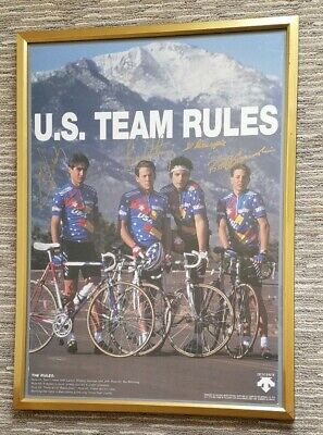 £145.44 • Buy LANCE ARMSTRONG - Framed Signed 1992 Barcelona Olympics Cycling Team Poster