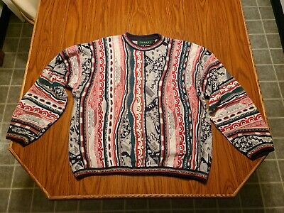 $40 • Buy Vintage Tundra 3D Knit Pullover Sweater Size XL Christmas Coogi Style