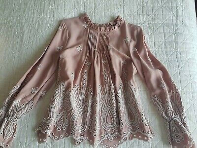 AU40 • Buy Forever New Blouse Embroidery Applique 8 Dusty Pink
