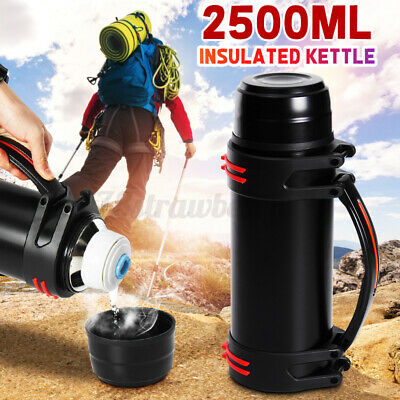 AU26.99 • Buy 2L Stainless Steel Thermos Travel Mug Bottle Flask Thermal Hot Water Insulated