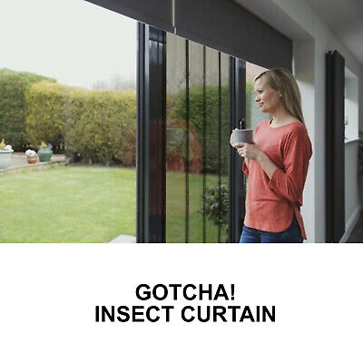 £13.99 • Buy New Doorway Insect Curtain Black Ideal For Caravans Doors & Window's Fly Insects