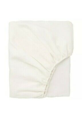 £35 • Buy PAIR IKEA 2 Puderviva Single Size Linen Fitted Sheet WHITE 90x190x36 303.984.90