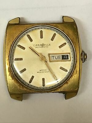 $38 • Buy Vintage Caravelle Automatic Gold Tone Watch 35 Mn