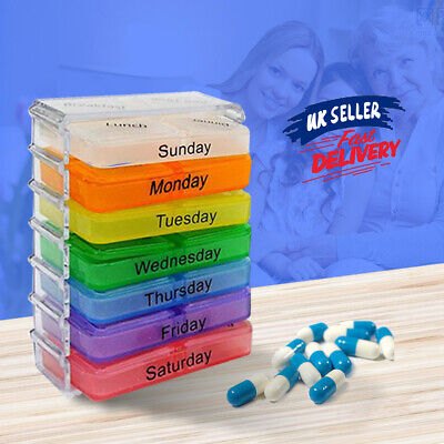 £4.59 • Buy Pill Box 7 Day Medicine Storage Tablet Container Case Dispenser Weekly Holder
