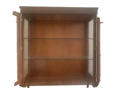 £0.99 • Buy Wood And Glass Antique Style Display Cabinet