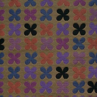 $165 • Buy New Authentic Maharam Quatrefoil Upholstery Fabric By Alexander Girard Violet