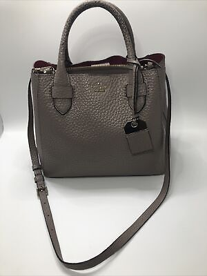 $ CDN37.77 • Buy Kate Spade Grey Crossbody, Pebbled Leather Purse, With Detachable Strap