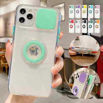 AU7.97 • Buy For IPhone 11 12 Pro Max XS X XR 8 7 Clear Rubber TPU Lens Protective Case Cover