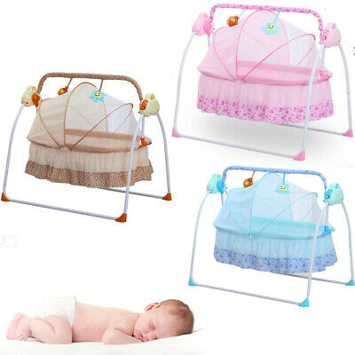 £89.09 • Buy Portable Electric Music Baby Swing Cradle Bassinet Rocking Crib Infant Bed+remot