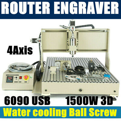 $1960.05 • Buy 1.5KW VFD 4Axis USB 6090 CNC Router Engraver Drill/Mill DIY Cutting Machine USA