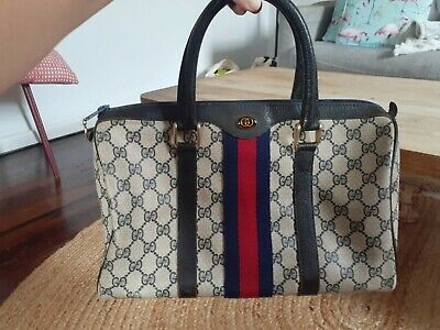 AU280 • Buy GUCCI Accessories Collection Boston Bag Navy