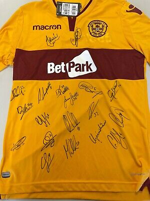 £56 • Buy Motherwell FC Signed Home Shirt 2018/19