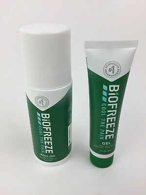 £10.96 • Buy Biofreeze Cool The Pain Gel+Roll-on Set Of 3  Menthol Pain Relief Exp 2022