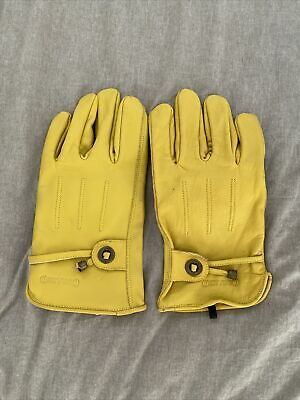 £10 • Buy MOTORCYCLE SCOOTER WATERPROOF CORAZZO CORDERO QUALITY TAN LEATHER GLOVES Large.
