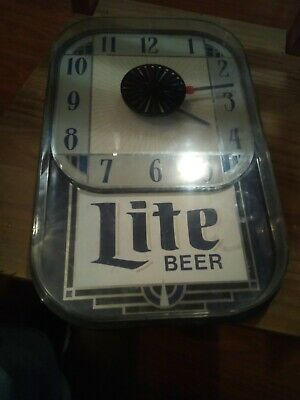 $25 • Buy Vintage Miller Lite Sign Plastic With Non-working Clock