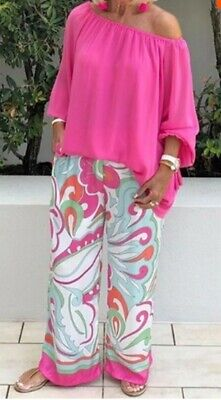 £64 • Buy Fab Mid Shades Pink/blue Trouser Suit Size Xxl 18/20