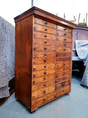 £1995 • Buy Antique Oak Museum Specimen Collectors Drawers Chest Of Drawers