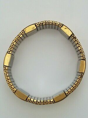 £2.99 • Buy Unisex Rumaton Magnetic Link Stretch Bracelet Gold Coloured STAINLESS STEEL