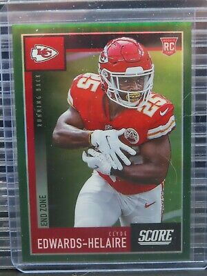 $ CDN1.25 • Buy 2020 Chronicles Clyde Edwards-Helaire End Zone Prizm Score Rookie RC #6/6 Q749