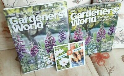 £5.85 • Buy BBC Gardeners' World Magazine May 2021 With 2 Packet Of  Seeds New.