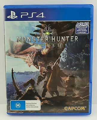 AU8 • Buy PlayStation 4 PS4 Game : MONSTER HUNTER WORLD ! LIKE NEW ! FAST POSTAGE !