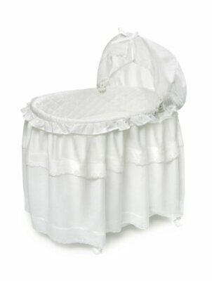 $155.20 • Buy Portable Rocking Baby Bassinet With Toybox Base Long Skirt And Pad