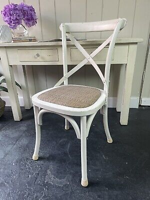 AU30 • Buy White Cross Back Dining Chair Desk Occasional Chair ~ One Only