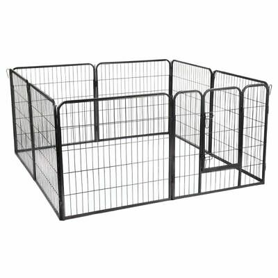 £97.99 • Buy Metal Run Small Pet Puppy Play Pen 8 Sided Easy Assemble Indoor Outdoor Use Best