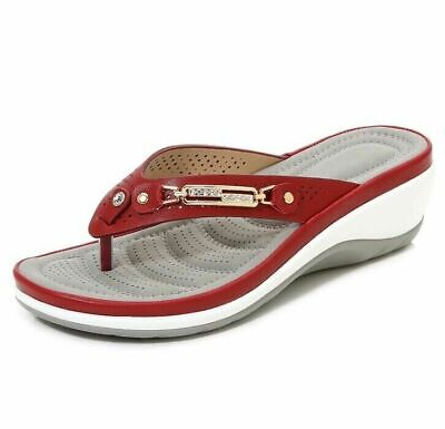 £15.99 • Buy Womens Arch Support Soft Cushion Flip Flops Thong Sandals Slippers Shoes Size UK