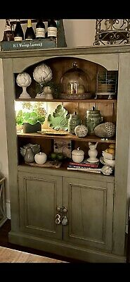 £299 • Buy Vintage Dresser/Bookcase/Display Cabinet  Painted In Annie Sloan French Grey