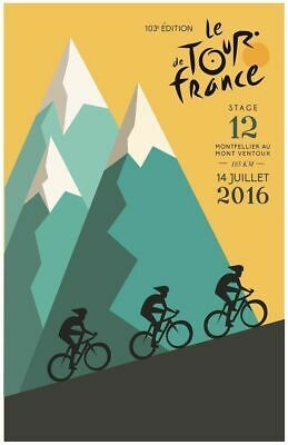 £3.95 • Buy TOUR DE FRANCE 2016 Printed Poster A4 A3 A2 Cave Cycling Cafe Bike Bar Sign Shed