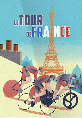 £3.95 • Buy TOUR DE FRANCE Printed Poster A4 A3 A2 Man Cave Cycling Cafe Bike Bar Sign Shed