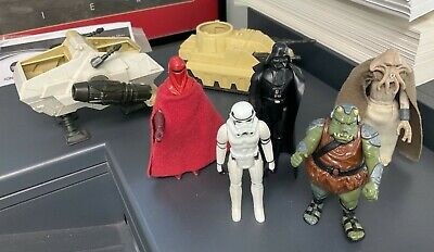 $ CDN20.77 • Buy Star Wars Vintage Job Lot Bundle Figures X 5 And 2 Vehicles From 1977-1983 Used