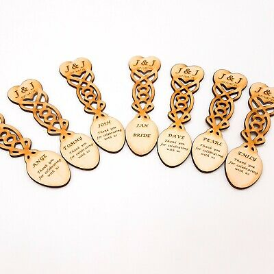 £2.75 • Buy Love Spoon, Welsh, Celtic Wedding Favours, Place Settings Or Gifts. Personalised