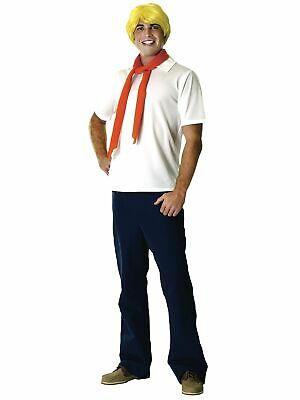 £25.76 • Buy Fred Scooby Doo Scooby-Doo Cartoon Movie Licensed Adult Mens Costume & Wig