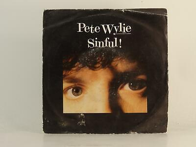£3.41 • Buy PETE WYLIE SINFUL (78) 2 Track 7  Single Picture Sleeve MDM