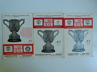 £0.99 • Buy 1969/70 -  3 X Manchester United Home League Cup Programmes -see Below For Games
