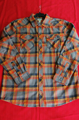$26.99 • Buy Ll Bean Overland Performance Long Sleeve Plaid Poly/wool Flannel Snap Xl-tall
