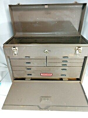 $199.99 • Buy Vintage Craftsman 7 Drawer Machinist Tool Chest Tool Box With Key