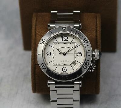 $1275 • Buy Steel Automatic Cartier Pasha Seatimer 40mm ( 40.5mm) Model  W31080m7 / 2790