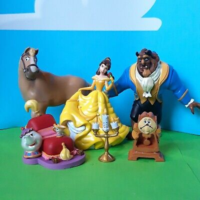 £15 • Buy Disney Beauty And The Beast Figures Belle Philippe Cogsworth Lumiere & Mrs Potts