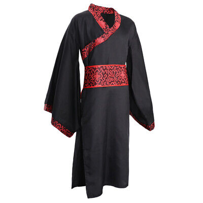 £13.70 • Buy Mens Ancient Chinese Hanfu Tang Suit Robe Traditional Folk Dance Costume Long