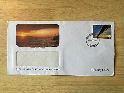 £3.99 • Buy First Day Cover - British Engineering 25th May 1983 Humber Bridge Yorkshire Linc